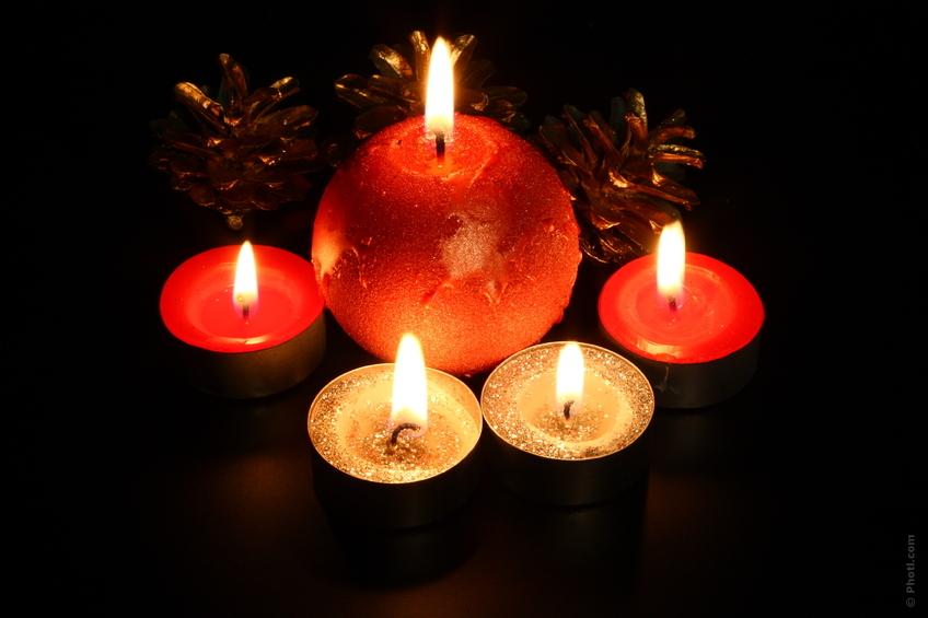 Levende lys skaber hygge